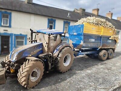 Britains  Conversion  New Holland T7.315 Tractor +kane Silage Trailer Weathered  • 80£