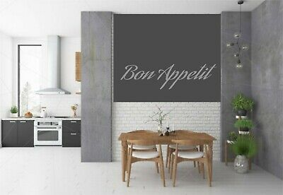 Wall Art Sticker Quote Kitchen Bon Appetit Family Dining Home Decor Decal Phrase • 2.99£