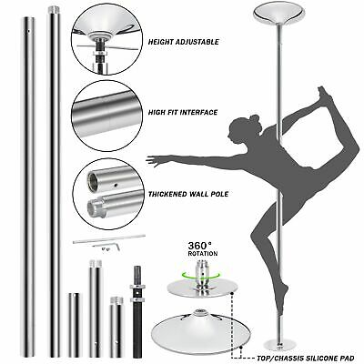 $100.99 • Buy 45mm Portable Dance Pole Static Spinning Stripper Keep Healthy Exercise Party
