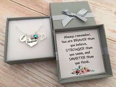 Personalised Birthday Gift Birthstone Age Initial Gift Necklace For Her Daughter • 4.99£