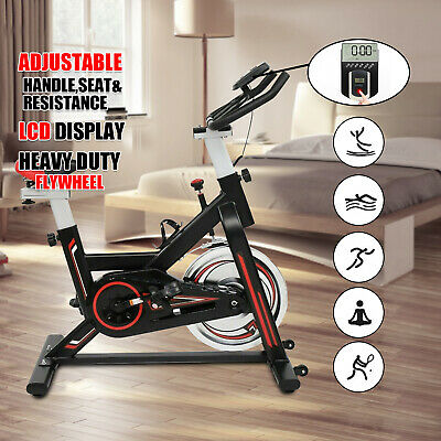 Exercise Spin Bike 11KG Flywheel Cycling Bicycle Fitness Indoor Home Training D • 169.99£