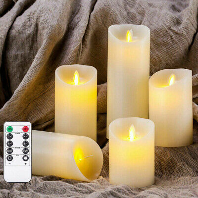 Battery Flickering LED Flameless Wax Candles Tealight Wedding W/Remote Control • 7.89£