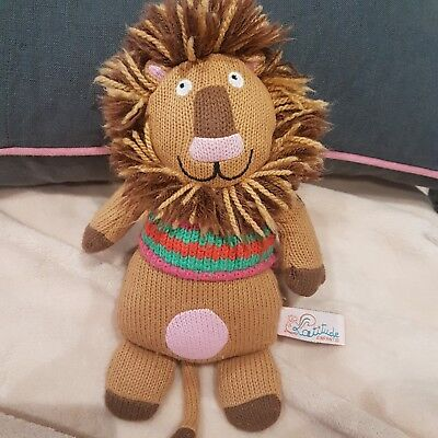 Simon The Lion 9  Knitted Soft Toy Plush By Latitude Enfants NEW S • 22.19£