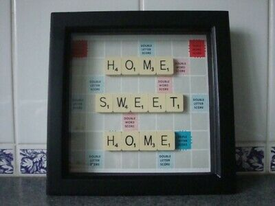 Handmade Scrabble Art Picture - HOME SWEET HOME • 25£