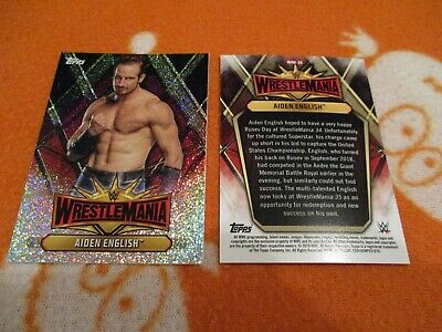 Aiden English - Wrestling (Topps) Wrestlemania Authentic Trading Card WM-26 Tv • 4£