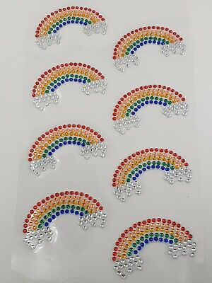 Sparkly Rainbow Gem Craft Stickers Embleshments Adhesive Backed 40mm X 30mm  • 2.25£