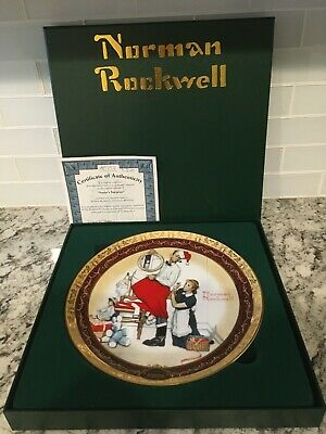 $ CDN22 • Buy Norman Rockwell Collector Plate Santas Surprise 2017 Bradford Exchange