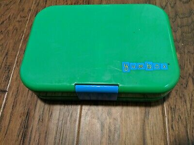 AU23.47 • Buy Yumbox Bento Box Lunchbox For Kids Leak Proof Green Divider Blue Latch EUC