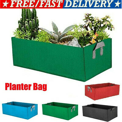 Garden Fabric Raised Bed Round Planting Container Grow Bags Breathable Felt Pot • 7.99£