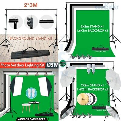 AU54.14 • Buy Photo Studio Softbox Umbrella Light Continuous Lighting Video Backdrop Stand Kit