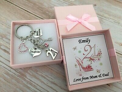 21st BIRTHDAY Gifts Charm Keyring For Daughter Sister Niece Friend Cosin  • 4.99£