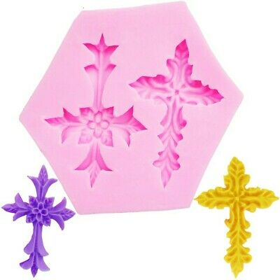 New Retro Cross Relief Baroque Mould Christening Silicone Mould UKSeller  • 4.99£