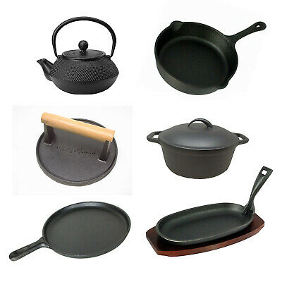 £20 • Buy Used Cast Iron Skillets Frying Pans Burger Presses Baking Stone Sizzle Platters