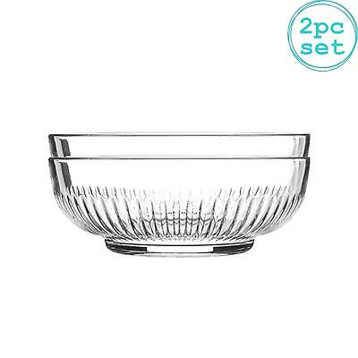 £8.49 • Buy Campana Glass Serving Bowls Set Of 2 Mixing Bowl Clear