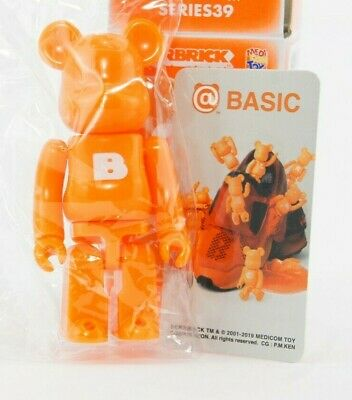 $11.69 • Buy Medicom Bearbrick Be@rbrick 100% Series 39 Basic Big B Orange S39 Toy