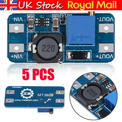 £5.63 • Buy 5X MT3608 Step-up Adjustable Converter DC-DC Switching Power Module Boost Supply