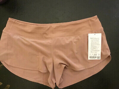 "$ CDN76.32 • Buy Lululemon Speed Up Shorts 12 NWT Copper Coil 2.5"" CPTN From UK/EU Tan Pink Rose"