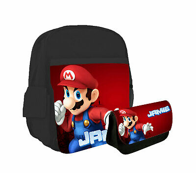 £21.99 • Buy Personalised Any Name Backpack Pencil Case Mario Children School Bag 726