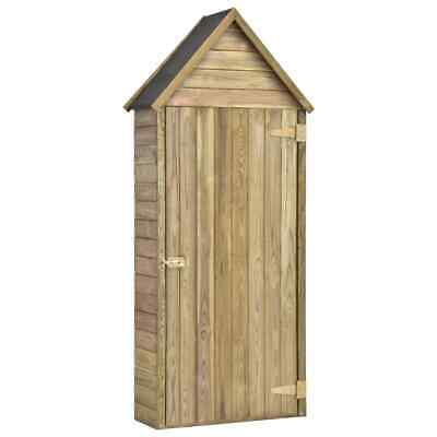 VidaXL Wooden Garden Tool Shed With Door Impregnated Pinewood Garden House • 129.99£