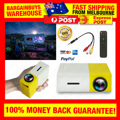 AU86.73 • Buy LED Projector 1080p YG-300 HDMI Video USB Audio Cinema Party Music Video Mapping