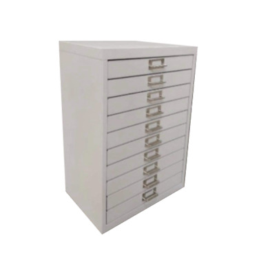 10 Multi Drawer Steel Filing Cabinet Grey - Brand New - Free Shipping • 69.95£