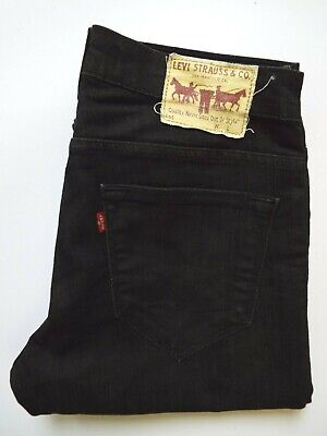 Levi's 519 Jeans Men's Stretch Extreme Skinny Fit W32 L28 Black Levr783 • 36.99£