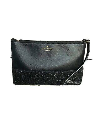 $ CDN64.35 • Buy Kate Spade Women's Handbag Black Small Crossbody Blk Glitter Sparkle 6x9