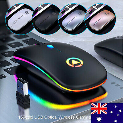 AU15.99 • Buy Wireless Optical Mouse Mice & USB Receiver 2.4GHz For PC Laptop Computer DPI AU
