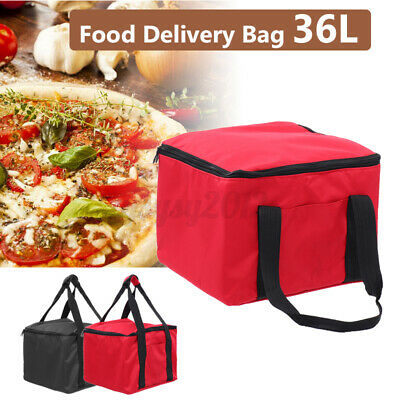 UK Hot Food Pizza Takeaway Restaurant Delivery Bag Thermal Insulated 40x33x33cm • 13.99£