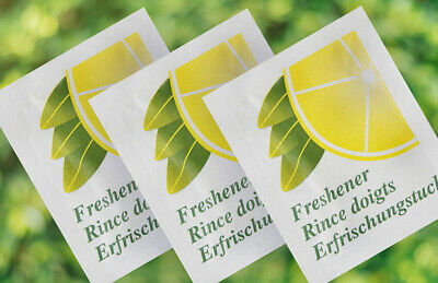 100 Small Lemon Fresh Hand Wet Wipes Towels Individually Wrapped Hygienic • 4.25£