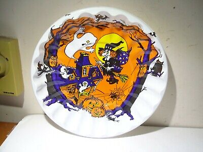 $ CDN13.33 • Buy Unused Nos Vintage Halloween Plastic Candy Bowl Witch Ghost Pumpkins Owl Bats