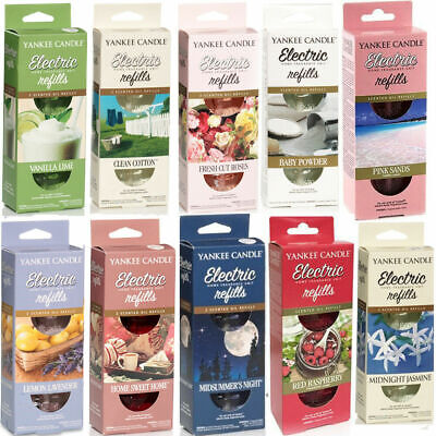 2 X 185ml Yankee Candle Electric Plug In Liquid Refill Fragrance VARIOUS SCENTS • 8.49£