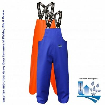 Vass Tex 550 Extreme Waterproof / Oil Skin / Commercial Bib And Brace • 59.99£