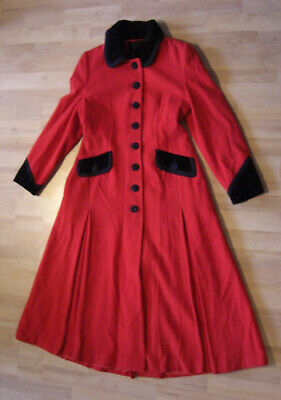 COAT VINTAGE RIDING JACKET MANSFIELD RED VICTORIAN MISTRESS VAMP 40s 30s 50s • 100£