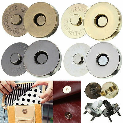 Magnetic Clasp Purse  Closures Round Sewing Button Bag Press Studs Thin • 1.49£