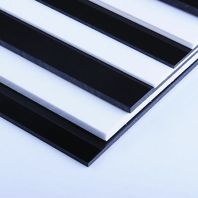 £1.22 • Buy White/Black ABS Plastic Sheet Panel DIY Model Craft 0.5mm~12mm Thick Choose Size