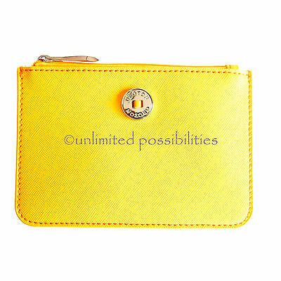 AU64.95 • Buy New OROTON Melanie Medium Zip Pouch Saffiano Leather Yellow With Tags
