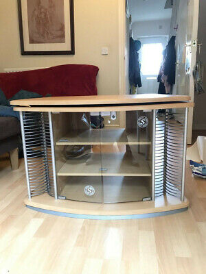 Tv Stand Cabinet, Very Good Condition, Lockable Safety Glass Doors, Disks Racks • 30£