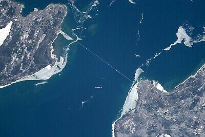 $14.98 • Buy MACKINAC BRIDGE-Seen From The INTERNATIONAL SPACE STATION-Expedition 55 PHOTO