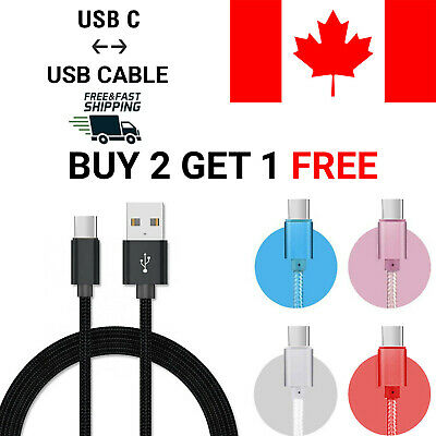 $ CDN4.44 • Buy USB Type C Cable USB-C 3.1 Sync Charger Charging For Samsung S10 S9 S8 LG G6 G7