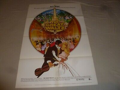 VINTAGE THE GREAT WALTZ MOVIE POSTER ORIGINAL 1972 MARY COSTA MGM 40 3/4 X 27 • 36.17£
