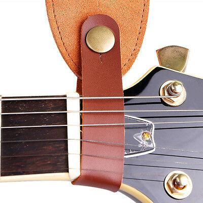 $ CDN2.52 • Buy Cowskin Leather Guitar Strap Hook Button For Acoustic Folk Classic DurablYJCA