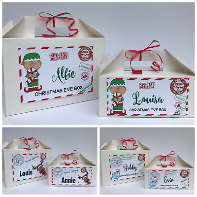 Personalised Christmas Eve Gift Box | Xmas Favour Present | Secret Santa | White • 4.25£