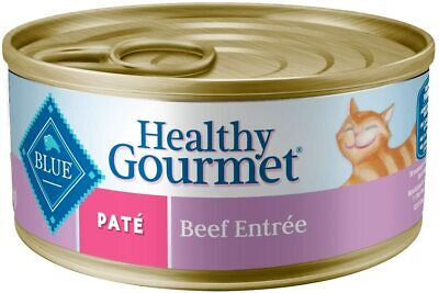 Blue Buffalo Healthy Gourmet Canned Cat Food Adult Pate` Beef Entrée  (6) 5.5oz • 15.73£
