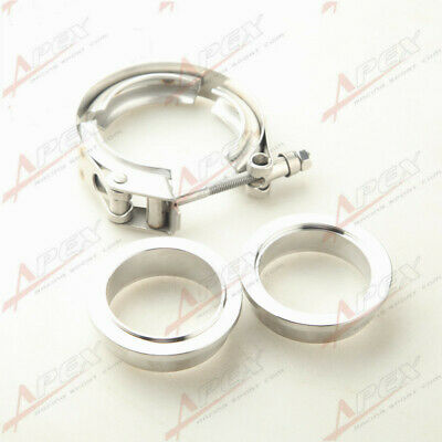 $ CDN27.02 • Buy Stainless Steel Quick Release V-Band Vband Clamp & 2  ID Male/Female Flanges Kit
