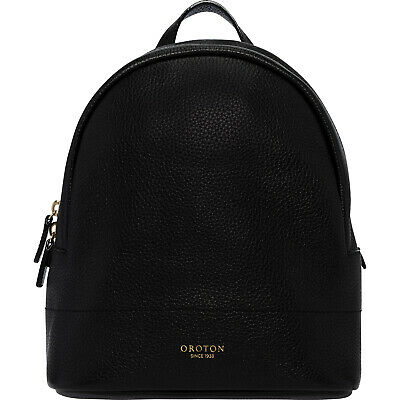 AU109 • Buy Black Color Small Size New Oroton Full Leather Avalon Backpack Hand Bag BNWT