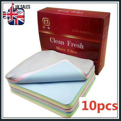 10pcs Glasses Cleaning Cloth Chamois Leather Cleaner For Lens Sunglasses Mobiles • 3.99£