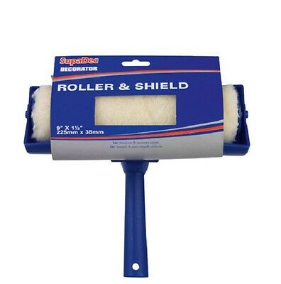 Paint Roller With 9  Shield Guard For Wall Ceiling Emulsion Painting • 7.99£