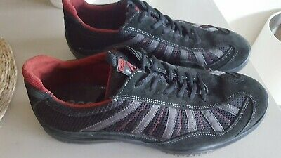 Men's Ecco Black Suede Trainers Shoes Size 10 Arch Support Stable Balance • 39£