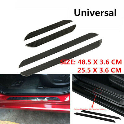 $42.10 • Buy Parts Accessories Carbon Fiber Vinyl Car Door Sill Scuff Plate Sticker Protector